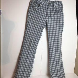 Vintage 70's Lee plaid polyester pants